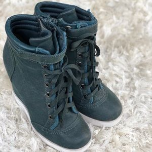 Forest green Wedge Sneakers by H&M